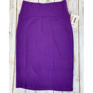 LuLaRoe Cassie XS Purple Pencil Skirt NWT